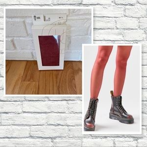 Urban Outfitters Maroon Sheer Tights